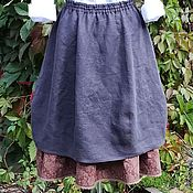 Одежда handmade. Livemaster - original item No. 177 Skirt boho linen. Handmade.