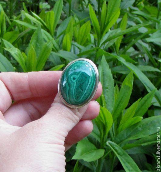 """Кольца ручной работы. Ярмарка Мастеров - ручная работа. Купить Кольцо """"Африка в сезон дождей"""" с малахитом. Handmade. Зеленый, зелень"""
