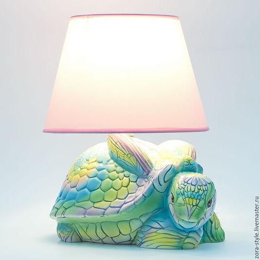 """Детская ручной работы. Ярмарка Мастеров - ручная работа. Купить Лампа ночник в детскую комнату """" Волшебная черепашка"""".. Handmade."""