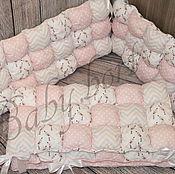 Для дома и интерьера ручной работы. Ярмарка Мастеров - ручная работа Бомбон-бортики в кроватку. Handmade.