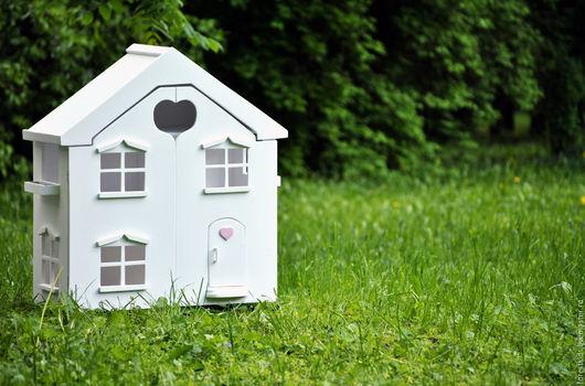 Кукольный дом ручной работы. Ярмарка Мастеров - ручная работа. Купить Домик для куклы сердечко. Handmade. Белый, для детей