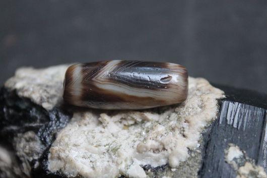 Древняя ритуальная бусина Дзи (Зи) Редкий камень