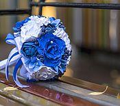 Свадебный салон ручной работы. Ярмарка Мастеров - ручная работа Свадебный букет в стиле Гжель. Полимерная глина. Handmade.