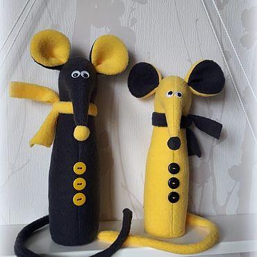 Dolls & toys handmade. Livemaster - original item Mice in scarves mule and Bullet Symbols of 2020. Handmade.
