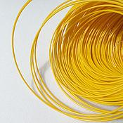 Материалы для творчества ручной работы. Ярмарка Мастеров - ручная работа 30 метров Шнек жилка для сумок Желтый. Handmade.