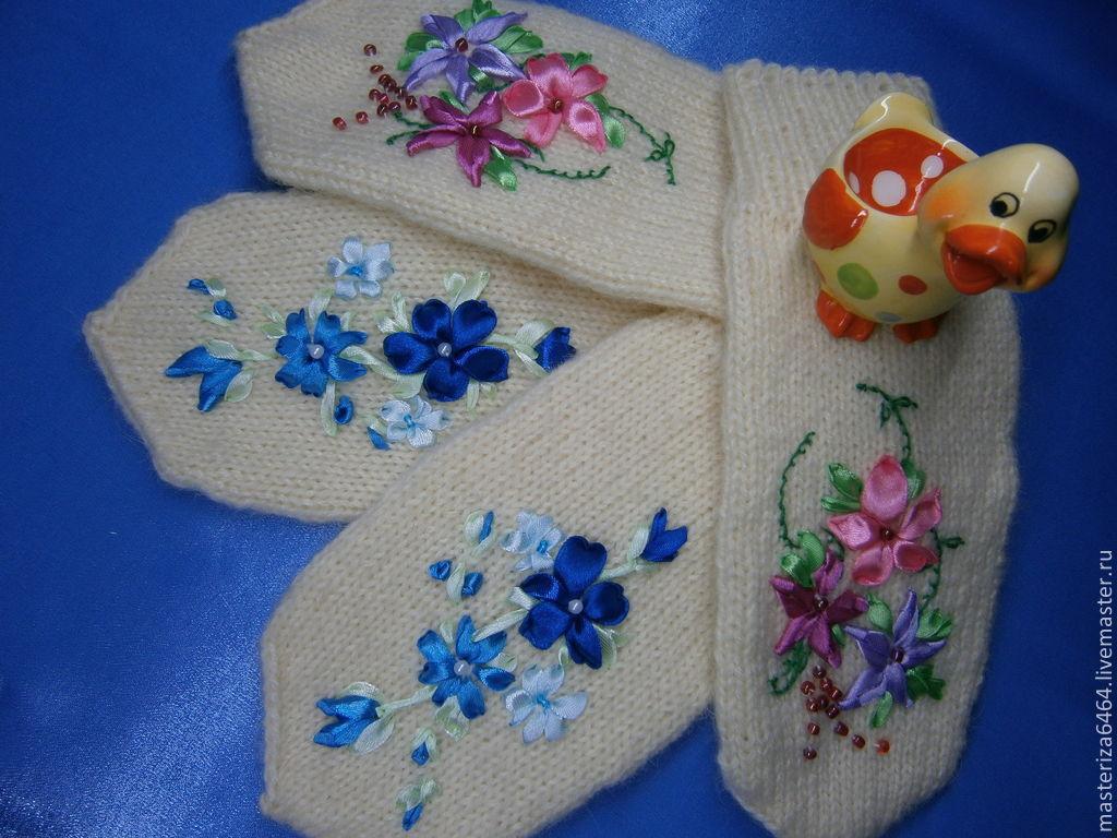Вышивка на варежках своими руками мастер класс 99