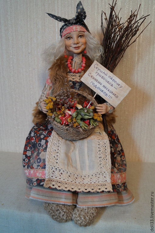 """Коллекционные куклы ручной работы. Ярмарка Мастеров - ручная работа. Купить """"Молодильные мухоморы"""". Handmade. Разноцветный, юмор, хлопок"""