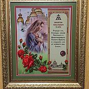 Картины ручной работы. Ярмарка Мастеров - ручная работа Оберег (молитва) в дом в розах. Handmade.