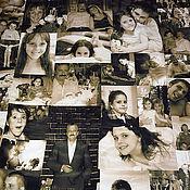 """Для дома и интерьера ручной работы. Ярмарка Мастеров - ручная работа Покрывало с фотографиями   """"Семейная Сага"""". Handmade."""