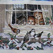 """Картины и панно ручной работы. Ярмарка Мастеров - ручная работа Картина """"Трое наблюдателей за птицами"""". Handmade."""