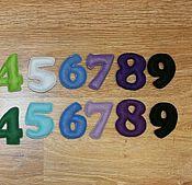 Куклы и игрушки ручной работы. Ярмарка Мастеров - ручная работа Цифры из фетра на магнитах. Handmade.