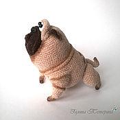 Мягкие игрушки ручной работы. Ярмарка Мастеров - ручная работа Вязаная собака мопс Веня. Handmade.
