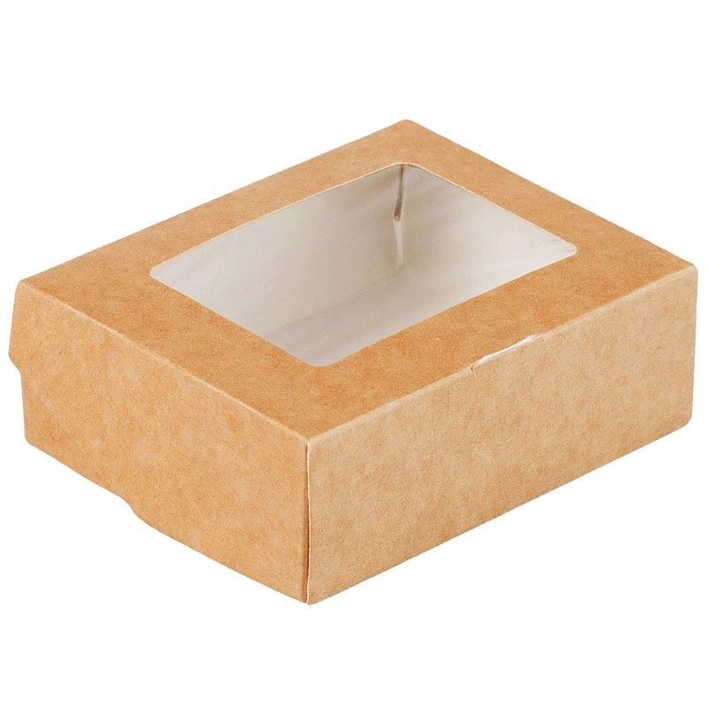 Крафт коробочка на одно мыло с  окошком, Коробки, Москва,  Фото №1