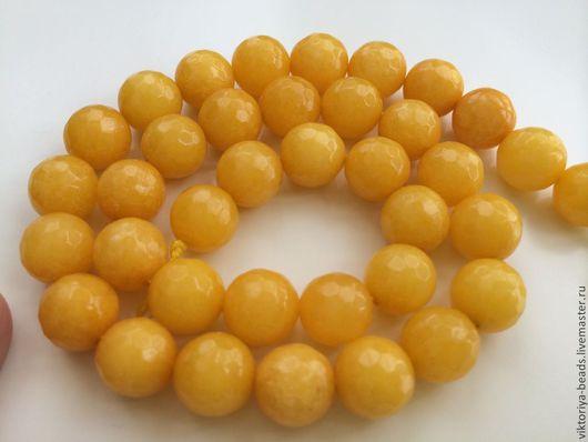Для украшений ручной работы. Ярмарка Мастеров - ручная работа. Купить Агат желтый бусины 10 мм огранка. Handmade.