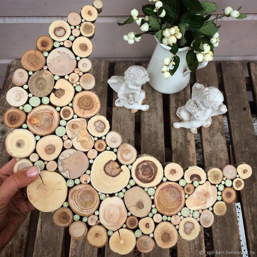 поделки из спилов дерева своими руками фото мелколуковичное