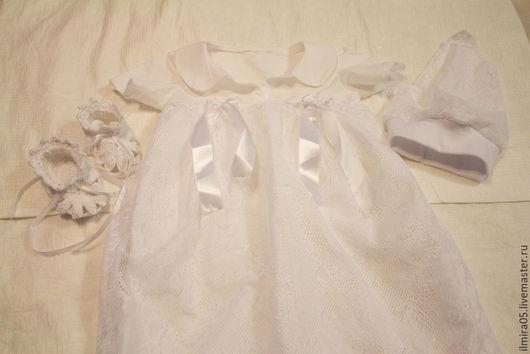"""Крестильные принадлежности ручной работы. Ярмарка Мастеров - ручная работа. Купить Крестильное платье """"Нежность"""". Handmade. Белый, Крестины, для девочки"""