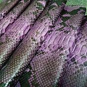 Материалы для творчества handmade. Livemaster - original item Python skin, fuchsia purple, soft dressing.. Handmade.