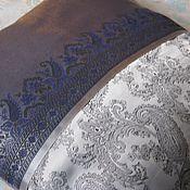 Подушки ручной работы. Ярмарка Мастеров - ручная работа Интерьерная подушка из винтажного арт шелка. Handmade.