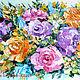 """Картины цветов ручной работы. Ярмарка Мастеров - ручная работа. Купить """"Кремовые"""" цветы""""букет цветов,холст,масло,живопись мастихином. Handmade."""