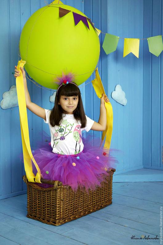 """Детские карнавальные костюмы ручной работы. Ярмарка Мастеров - ручная работа. Купить Костюм """"Хлопушка"""" Юбочка+ободок. Handmade. Разноцветный"""