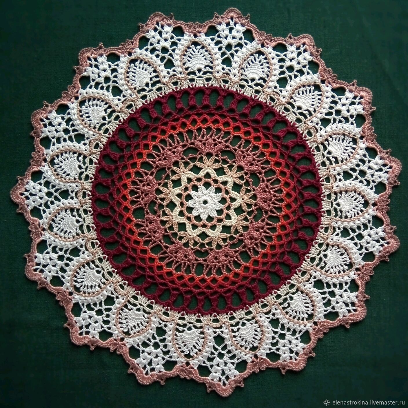 Cloth crocheted ' Flower patterns', Doilies, St. Petersburg,  Фото №1