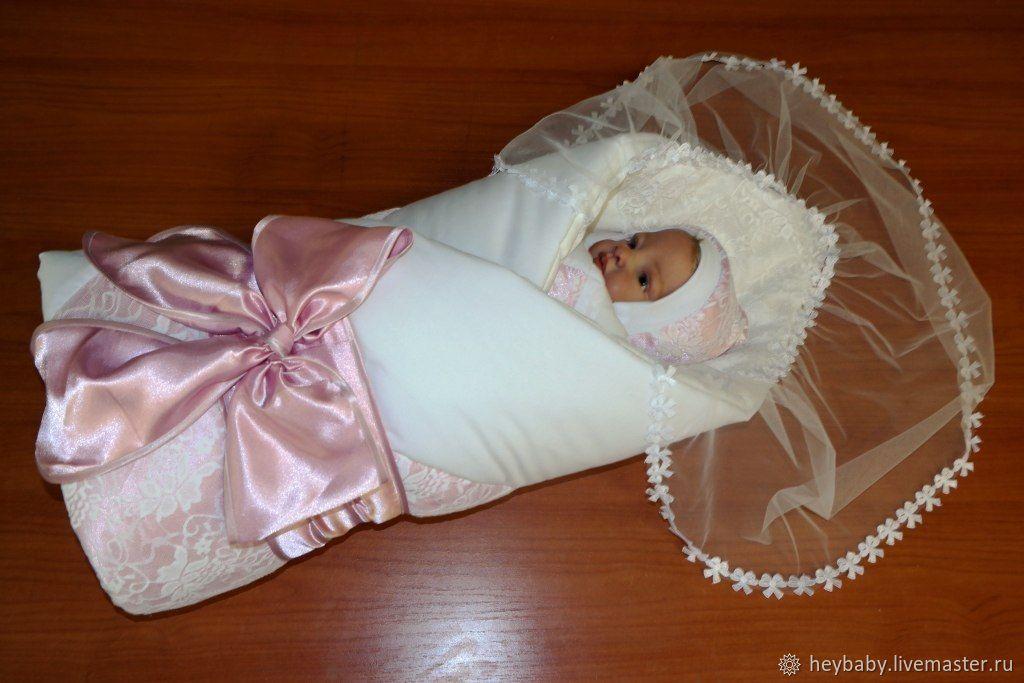 Одеяло на выписку с бантом своими руками