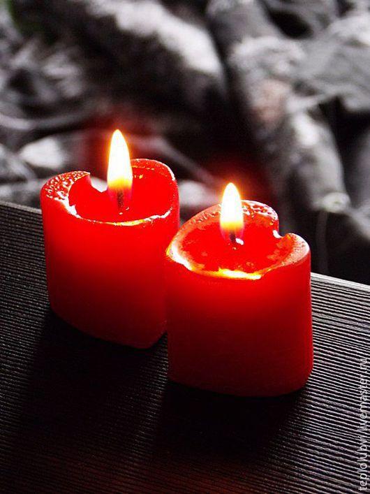 Свечи ручной работы. Ярмарка Мастеров - ручная работа. Купить Свечи ручной работы - набор из 6 шт - красный бронзовый - Огонь сердца. Handmade.