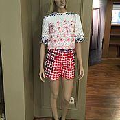 Одежда handmade. Livemaster - original item Summer suit Duo shorts and a skirt. Handmade.