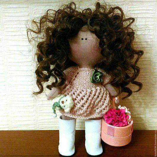 Куклы тыквоголовки ручной работы. Ярмарка Мастеров - ручная работа. Купить Кудряшка - игровая куколка. Handmade. Кудряшка, кукла в подарок