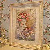 """Картины и панно ручной работы. Ярмарка Мастеров - ручная работа Картина """"Птички на ветке"""". Handmade."""