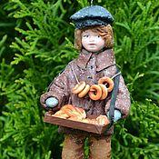 Куклы и игрушки handmade. Livemaster - original item Cotton Christmas toy bread Peddler. Handmade.
