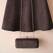 Skirts handmade. Livemaster - original item Suede skirt the color of dark chocolate. Handmade.