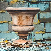 Дача и сад handmade. Livemaster - original item Pot garden on the stem antique antique vintage vase. Handmade.
