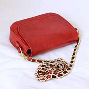 Сумки и аксессуары handmade. Livemaster - original item A red purse on a chain art. 251. Handmade.