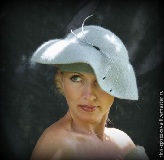 """Шляпы ручной работы. Ярмарка Мастеров - ручная работа. Купить Дамская шляпка """"Скарлетт, вернись!"""". Handmade. Серый, дамская шляпка"""