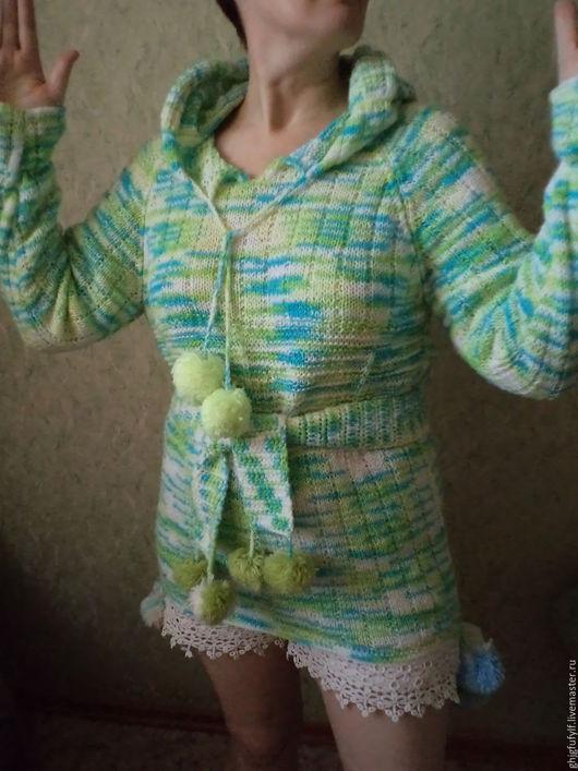Кофты и свитера ручной работы. Ярмарка Мастеров - ручная работа. Купить Эльфы в городе. Handmade. Разноцветный, стиль этно