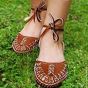 """Обувь ручной работы. Ярмарка Мастеров - ручная работа Кожаные сандалии """"Sexy Brown"""". Handmade."""