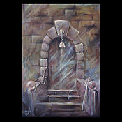 Картины и панно ручной работы. Ярмарка Мастеров - ручная работа Системообразующая картина: Двери, которых нет 794. Handmade.