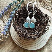 Украшения handmade. Livemaster - original item Earrings dawn in the forest. Handmade.