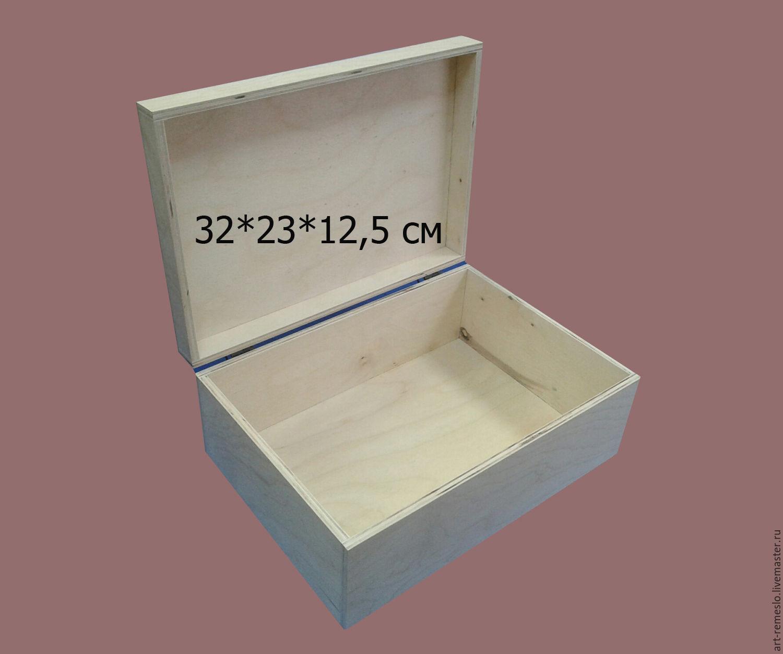 Шкатулка для декупажа и росписи Заготовка из фанеры. Внутренний размер для бумаги формата А4
