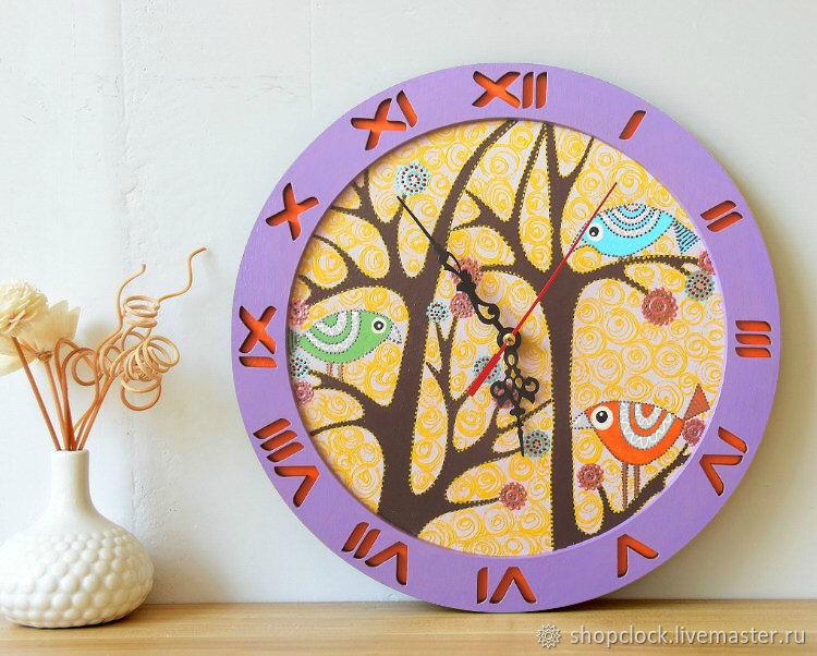 Clock wall Fairy birds, Watch, Novosibirsk,  Фото №1