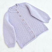 Одежда детская handmade. Livemaster - original item Knitted cardigan for girls