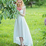 Свадебный салон ручной работы. Ярмарка Мастеров - ручная работа Белое шелковое платье. Handmade.