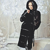 Одежда handmade. Livemaster - original item Beaver fur coat with hood. Handmade.