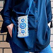 "Сумки и аксессуары handmade. Livemaster - original item Case-purse for the phone ""Fabulous beach"". Handmade."