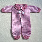 Работы для детей, ручной работы. Ярмарка Мастеров - ручная работа Комбинезон для девочки двойной вязки. Handmade.