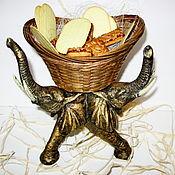 Посуда ручной работы. Ярмарка Мастеров - ручная работа Конфетница Слоны. Handmade.