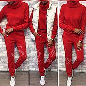Одежда ручной работы. Ярмарка Мастеров - ручная работа Спортивный костюм из ангоры бордовый. Handmade.