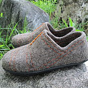 """Обувь ручной работы. Ярмарка Мастеров - ручная работа Валяные тапочки """"Серые"""". Handmade."""