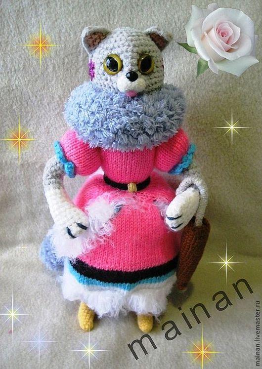 """Готовая работа. Тётя Кошка из сказки """"Кошкин Дом"""" При покупке Козы и Козла, Кошки и кота Василия- котята в подарок!"""